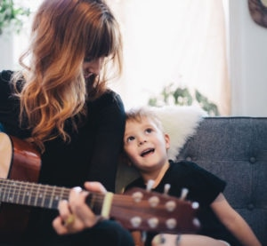 Mother And Son Sing Along